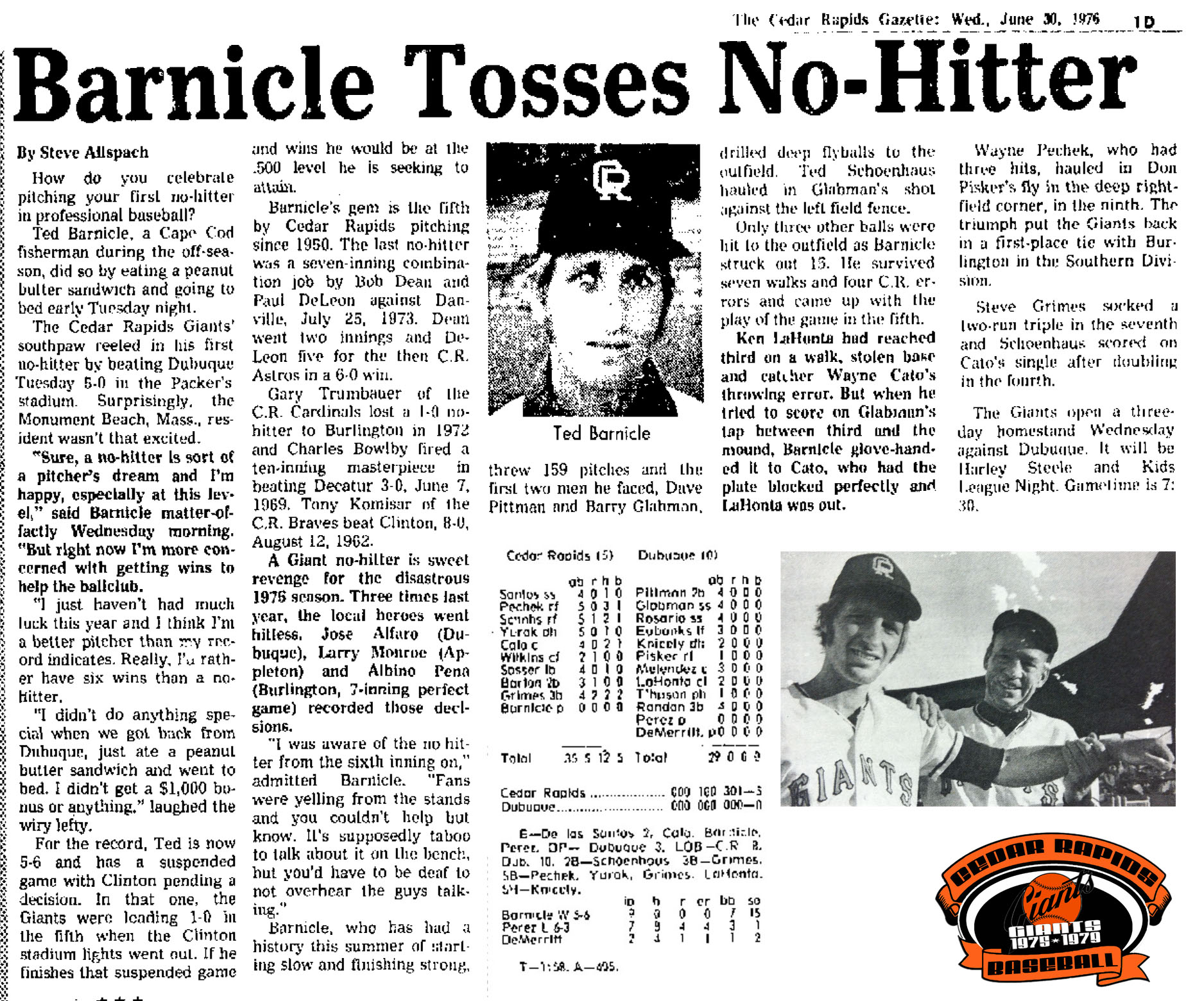 June Gazette Ted Barnicle